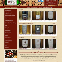 Wine website with unique layout.