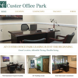 Simple, clean, mobile-friendly website for office park.