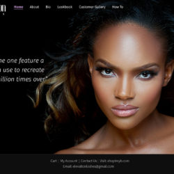 Beautiful dark website featurin for lash extensions.