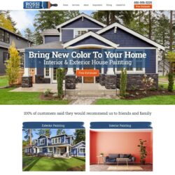 house painting website design inspiration.