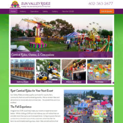 bold background colors for fair rides website.