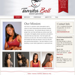 red and gray website design.